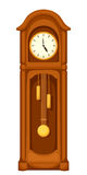 Longcase grandfather clock  on white. Vector illustration. Royalty Free Stock Photos
