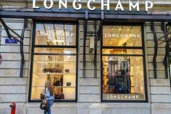 LongChamp boutique Stock Images