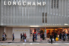 Longchamp boutique in hong kong Stock Image