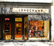 Longchamp -- Newbury St. Boston, MA. Stock Image
