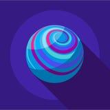 Longe ícone do planeta, estilo liso Imagem de Stock Royalty Free