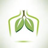 Longen geïsoleerd vectorsymbool gestileerd pictogram royalty-vrije illustratie