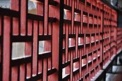 Longeron en bois pâlissant le type chinois Photos libres de droits