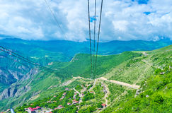 The longest cableway Royalty Free Stock Photography