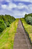 The longest concrete staircase in the Netherlands Holland called Wilhelmina stairs. Located in Landgraaf south Limburg in the Netherlands Holland royalty free stock images