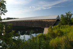 Longest Covered Bridge in New England Royalty Free Stock Images