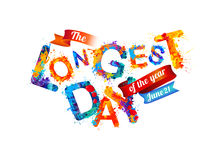 The Longest day. June 21. Stock Photography
