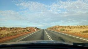 Longest road. Australias road trip royalty free stock photography