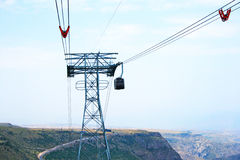Ropeway in Armenia royalty free stock images