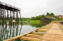 Longest  wooden bridge it broken in Thailand Royalty Free Stock Photos