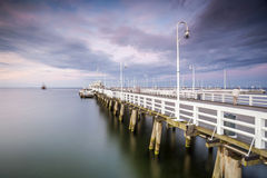 The longest wooden pier in Europe Stock Image