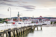 The longest wooden pier in Europe Stock Photos