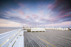 The longest wooden pier in Europe Royalty Free Stock Photo