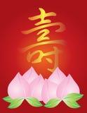 Longevity Birthday Peach Buns Illustration. Longevity Chinese Calligraphy Birthday and Peach Fruit Buns Illustration Royalty Free Stock Images