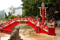 The Longevity Bridge. Tin Hau temple, Repulse Bay. Hong Kong Stock Photo