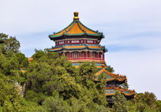 Longevity Hill Pagoda Tower Summer Palace Beijing China Stock Photo