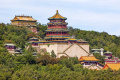 Longevity Hill Tower of the Fragrance of the Buddha Orange Roofs Royalty Free Stock Image