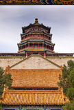 Longevity Hill Tower Orange Roofs Summer Palace Beijing China Royalty Free Stock Photography