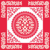 Longevity symbols(Chinese traditional pattern) Stock Photo