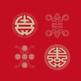 Longevity symbols collection Stock Photo