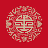 Longevity symbols collection. Symbols of this vector are chinese character.The character Shou meaning long life and good health,is a Chinese traditional pattern Royalty Free Stock Photo