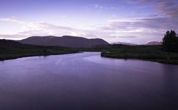 Longexp del paesaggio dell'Islanda Fotografia Stock Libera da Diritti