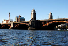 Longfellow bridge, Boston, MA Royalty Free Stock Images