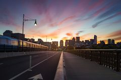 Longfellow bridge stock image