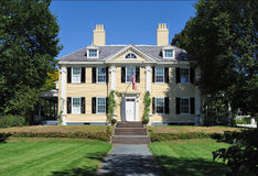 Longfellow House. In Cambridge, Massachusetts. A national landmark and tourist attraction Stock Photo