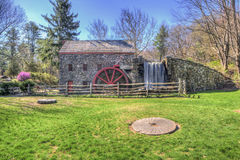 Longfellow's Wayside Inn Grist Mill Facade Royalty Free Stock Photography