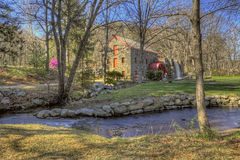 Longfellow's Wayside Inn Grist Mill Late Afternoon Royalty Free Stock Photo