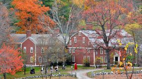Longfellows Wayside Inn & Tavern - Sudbury, Ma on October 24, 2014 - by Eric L. Johnson Photography Stock Photo