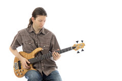 Free Longhaired Bass Player Royalty Free Stock Photos - 37267758