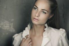 Longhaired blond girl Stock Photos