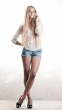 Longhaired blond girl Royalty Free Stock Photo