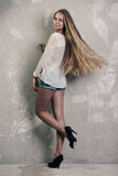 Longhaired blond girl Royalty Free Stock Image