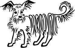 Longhiar狗被混合的品种狗 向量例证