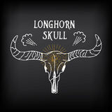 Longhorn skull, sketch vector design. Vintage western icon. Royalty Free Stock Photo