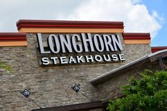 LongHorn Steakhouse. Modern Longhorn Steakhouse building and sign in coastal community royalty free stock photo