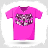 Longhorn western t shirt vector design Royalty Free Stock Photos