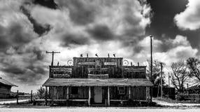 Longhornlager, spökstad som är scenisk, South Dakota arkivfoto