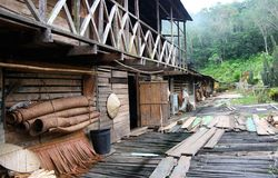 Longhouse Stockbild