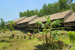 Longhouse in Borneo Stock Image