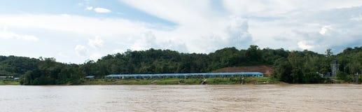 Longhouse della tribù di Iban in Sarawak Fotografie Stock Libere da Diritti