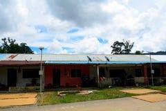 Longhouse di Bidayuh, Mongkos, Borneo, Sarawak, Malesia Immagine Stock Libera da Diritti
