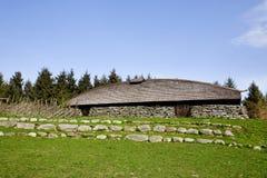 longhouse viking Arkivbild