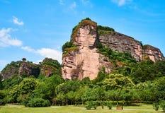 Danxia Landform of Longhu Mountain. Longhu Mountain, a typical Danxia landform, is located in Yingtan City, Jiangxi Province. also a famous Taoism mountain stock photos