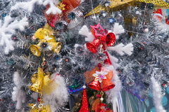 LONGHU-sterhyatt Place Kerstman binnenkerstboom op Kerstmis 2012 Royalty-vrije Stock Foto