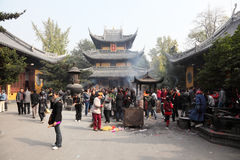Longhua Temple in Shanghai Stock Photo