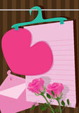 Longing Love Letter_eps Stock Photos